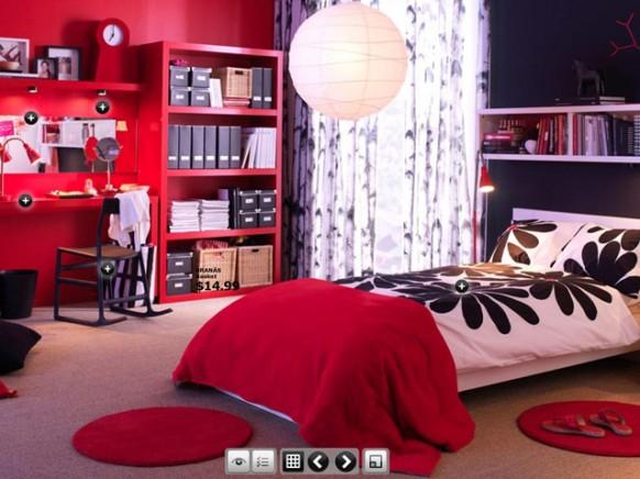 trendige Zimmer im Studentenwohnheim