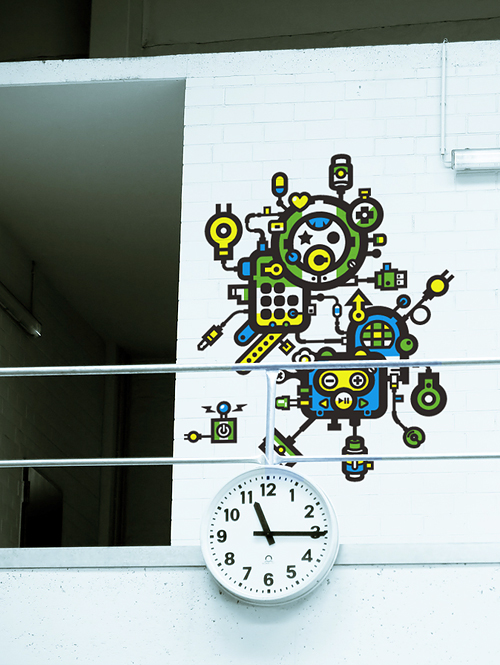Wand Abstrakt Kunst