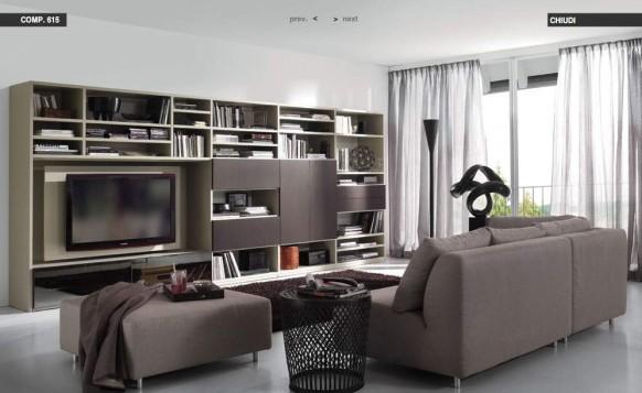 weiß-dunkelbraun-Wohnzimmer