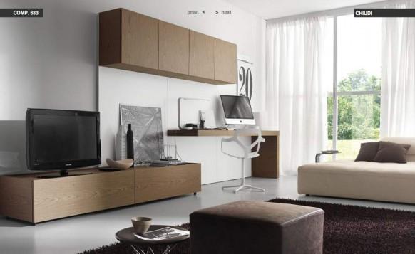Holz-Braun-Wohnzimmer