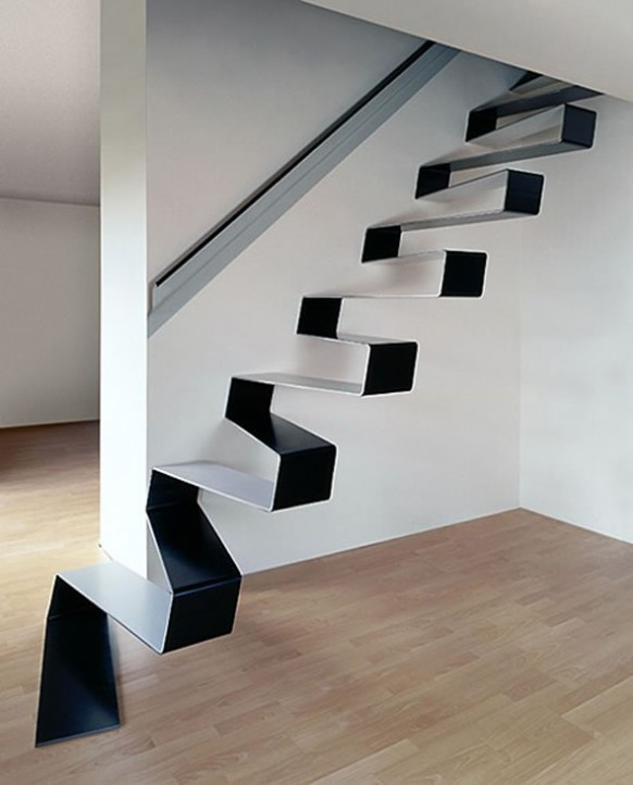 schwarze und weiße Treppe