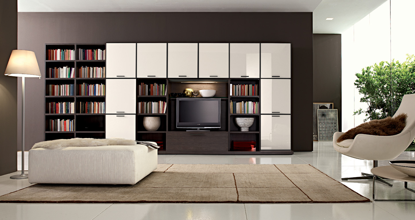 Living Room With Bookshelf: Living Rooms From Zalf