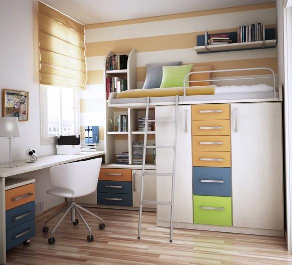 Etagenbett und Lagerung