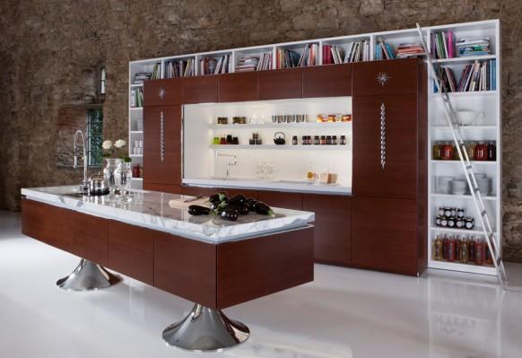 Bibliothek Küche