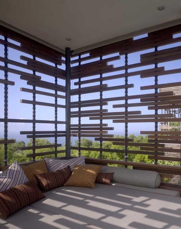 lounge in der villa