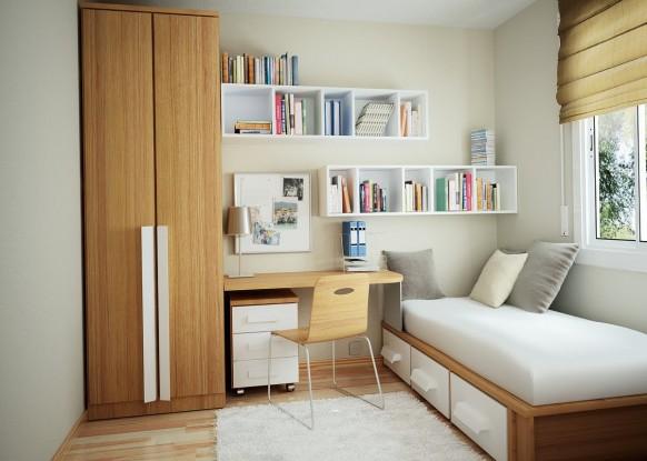 minimal Möbel in den Raum