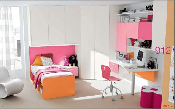 pink und orange Zimmer