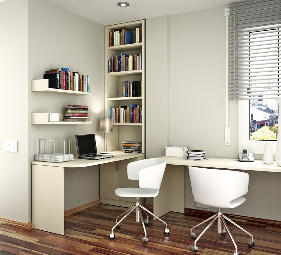 Space Saving Built In Office Furniture In Corners: Space Saving Ideas For Small Kids Rooms