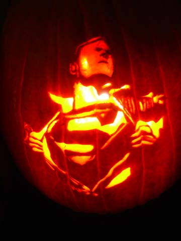 superman-halloween-Kürbis