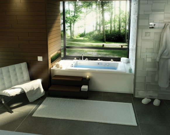 zeitgenössische Badewanne