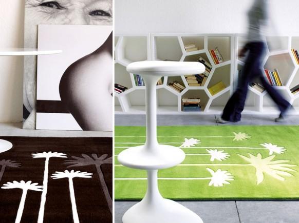 Braun-und-grün-Teppich