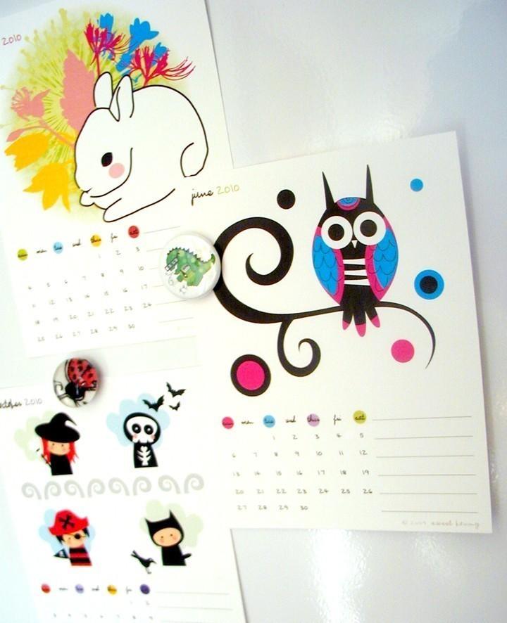 Cute Calender Designs For 2010