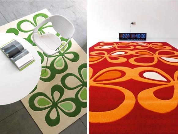 rote und grüne Teppich