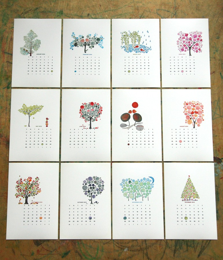 Cute Calender Designs For 2010