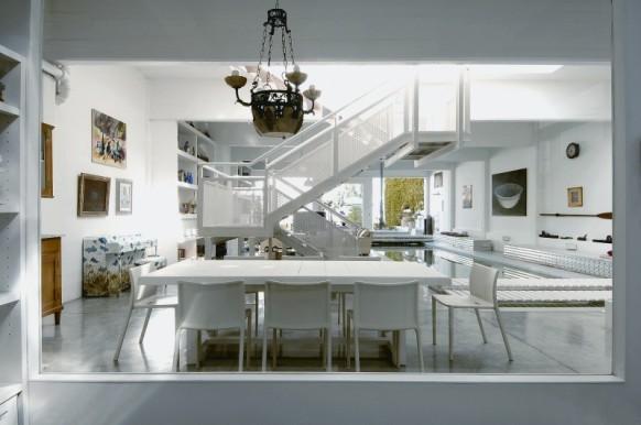 Indoor-pool-Haus - Wohnzimmer