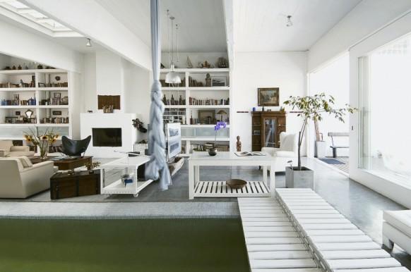 Indoor-pool-Haus - teilweise mit Blick auf den pool