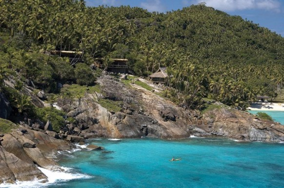 Private Island Seychelles, unter den Bäumen