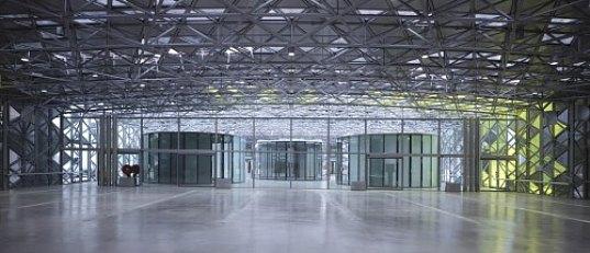 Solar powered design Center - Eingang
