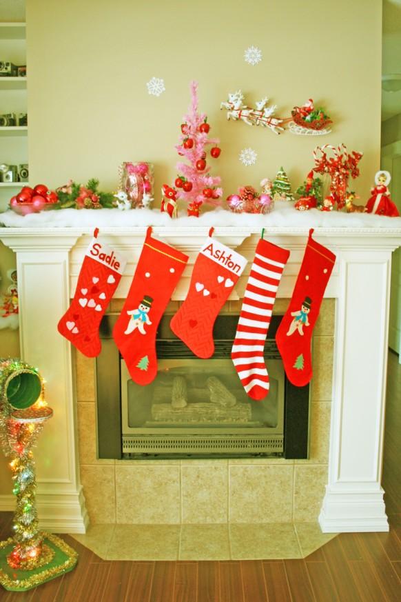 Weihnachten Interieur - Kamin