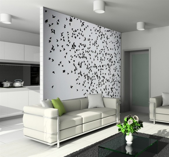 Coole Wand-tat - fliegende Vögel
