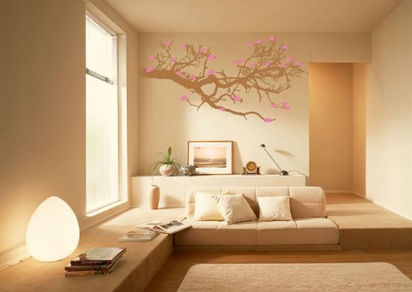 Coole Wand-tat - rosa Baum