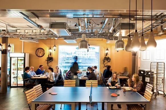 google-stockholm Büro - cafe