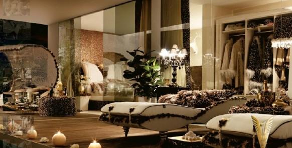 luxuriöses-Interieur-schwarz-Zimmer