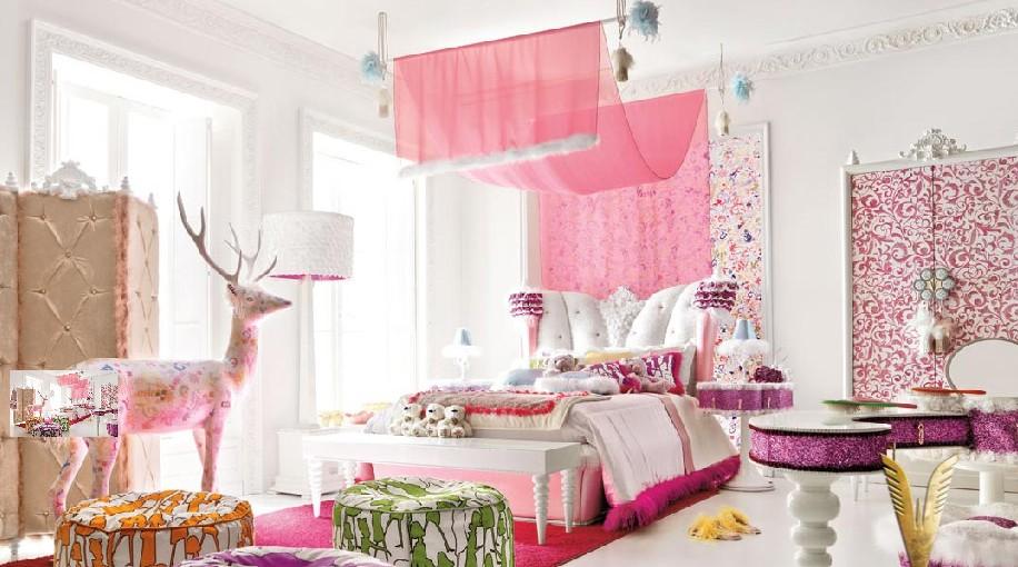 Luxurious interiors girl room