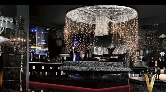 luxuriöses-Interieur-ultra-schicke Zimmer