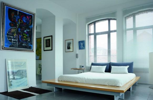 neuen klassischen Stil im loft - Schlafzimmer
