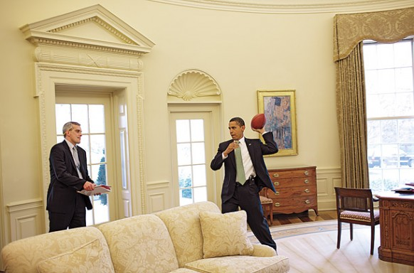 spielerische moment im oval office