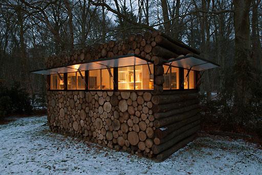 log-cabin-Dämmerung