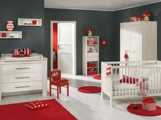 weiß und Holz-baby-Kinderzimmer-Möbel-sets von Paidi 3