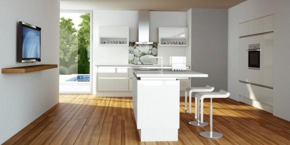 klassische, weiße Küche designs