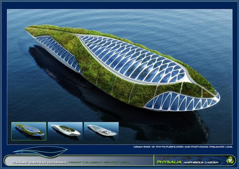 Amazing Architectural Concept Physalia The Amphibious Garden