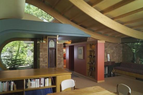 Tree house living room inside