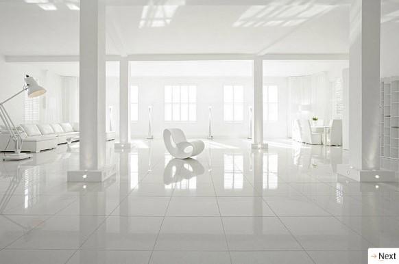 baeutiful weißem Interieur