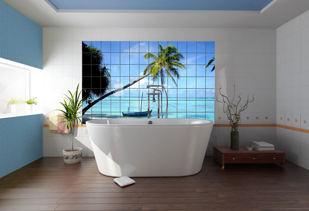 Coastal Bathroom Tile Ideas: Photo Tiles For Kitchens And Bathrooms