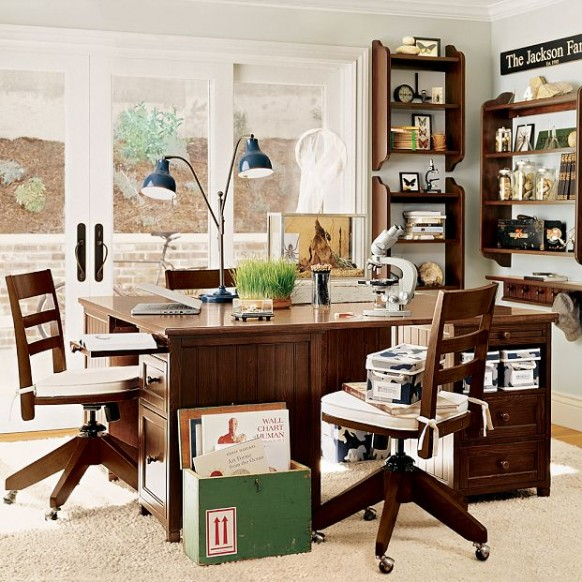 Classic Study Room Design: Kids Study Room Furniture