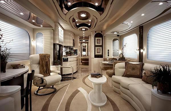 Gorgeous caravan insides