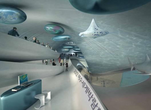 große Blaue Wal Interieur