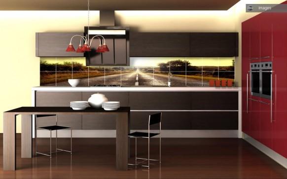 Autobahn in der Küche Fliesen