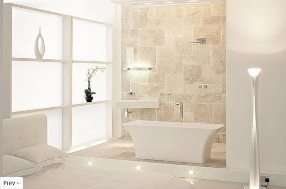 weiß und beige Badezimmer