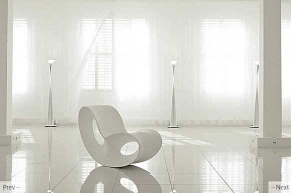weißer curvy chair