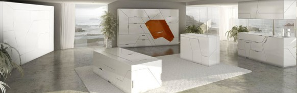 weiße Möbel