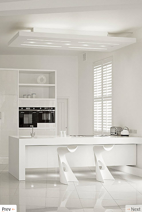 Kitchen Room Interior Design: White Interior Design