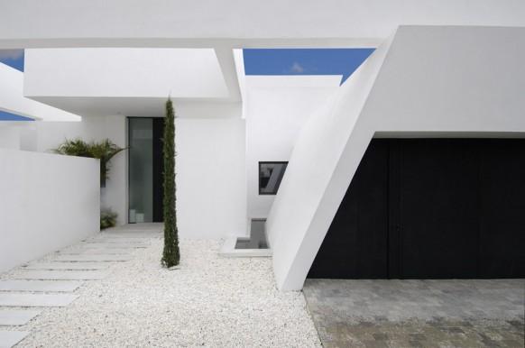 14 weiße Haus garage