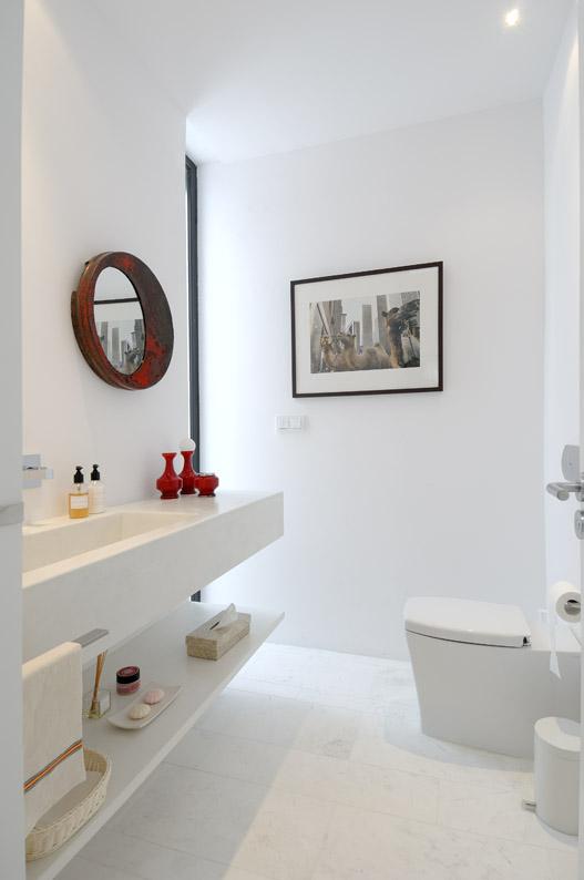 7 atemberaubenden, weißen Bad