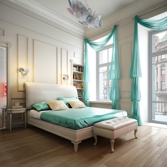 Aqua blau Schlafzimmer Spalnya 1