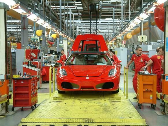Ferrari-Fabrik-Etage